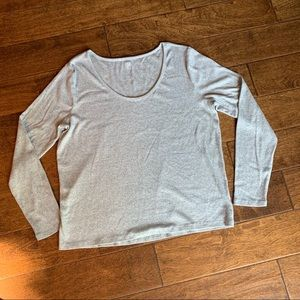 Gap Feather Tee Heavy like Sweater, XXL Grey